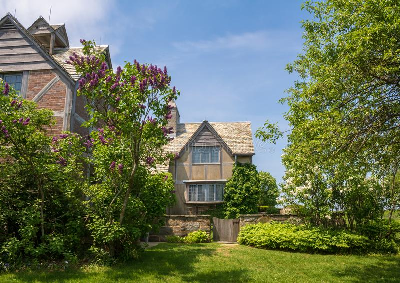 Sommerhaus im Topsmead-Nationalpark, Litchfield, Connecticut lizenzfreie stockfotografie