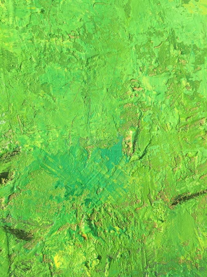 Sommerhintergrund der organischen Substanz mit grüner Frühlingsmalereibeschaffenheit stockfotografie