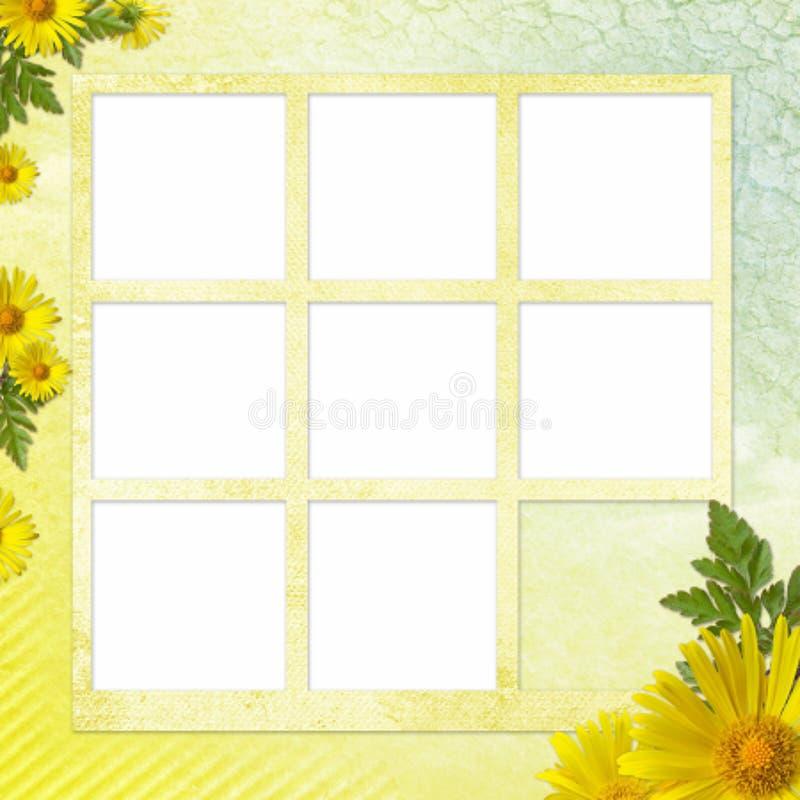 Sommerhintergrund mit Feld und Blumen lizenzfreie abbildung