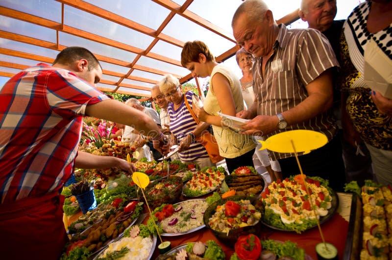 Sommerhotel-Lebensmittelfestival stockfoto