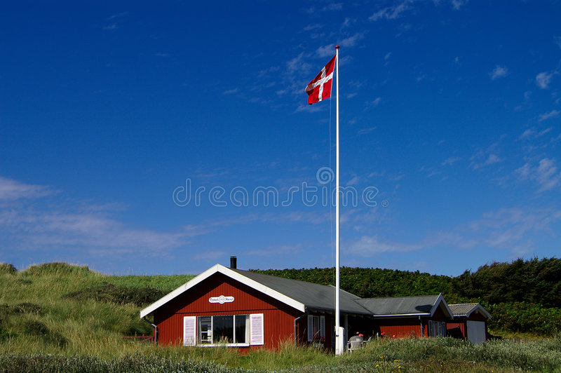 Sommerhus with sky royalty free stock photos