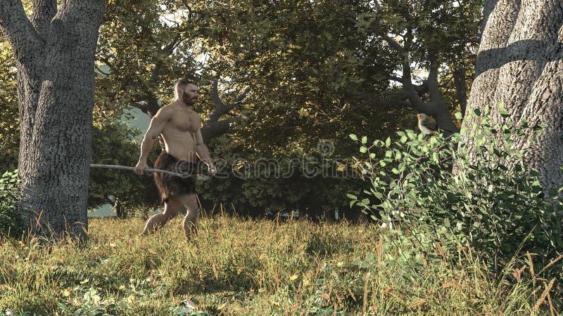 Sommerjäger neandertal vektor abbildung