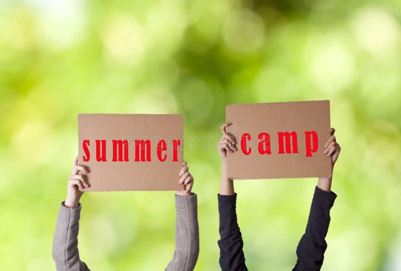 Sommerlager stockbilder
