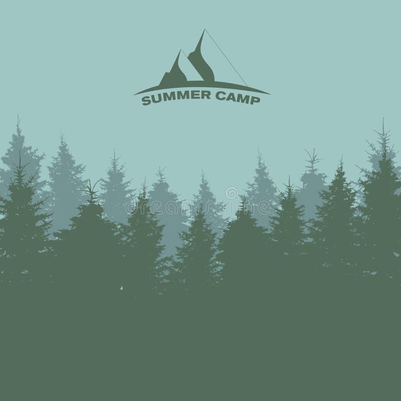 Sommerlager Bild der Natur Gebrauch, wie oder enthaltene Beschaffenheit in einer Auslegung Vektor illustrati vektor abbildung