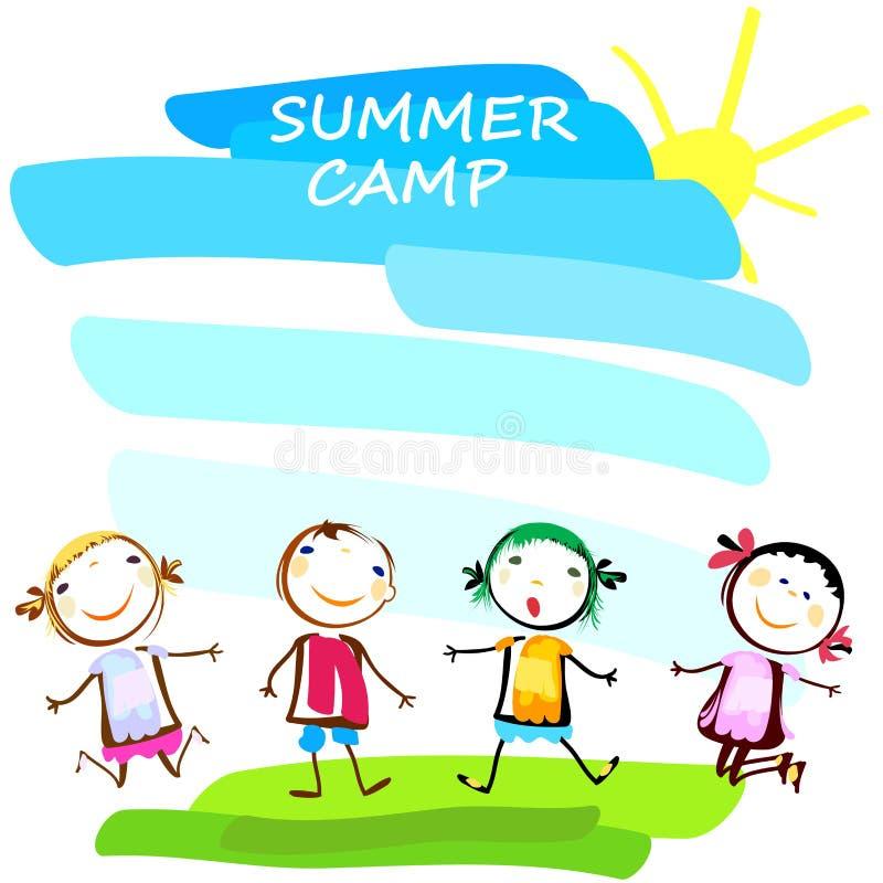 Sommerlagerplakat lizenzfreie abbildung