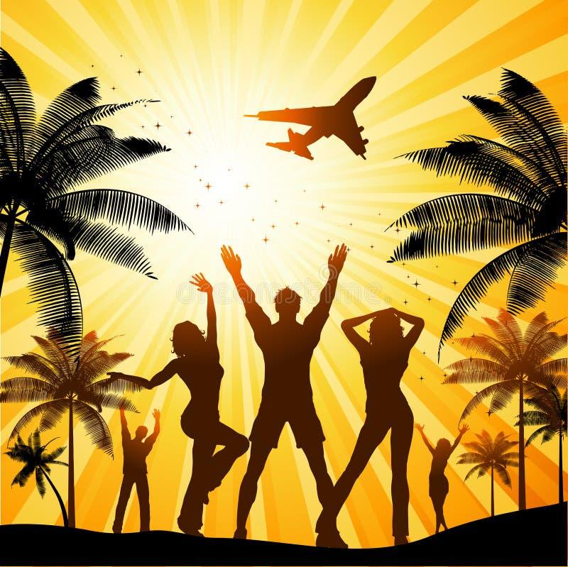 Sommerparty lizenzfreie abbildung