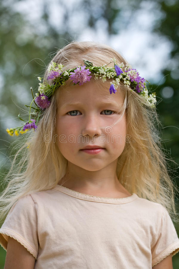 Sommerportrait stockfoto