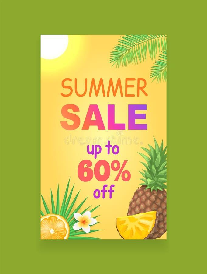 Sommerschlussverkauf-Vektor-Fahnen-Förderungs-Broschüren-Probe lizenzfreie abbildung