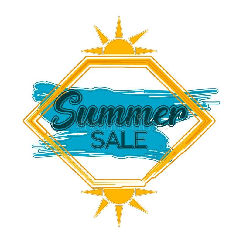 Sommerschlussverkaufaufkleber lizenzfreie abbildung