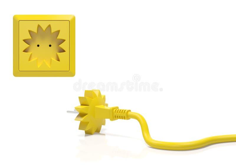 Sommerschlussverkaufjahreszeit oder kreatives Konzept der Solarenergie stock abbildung