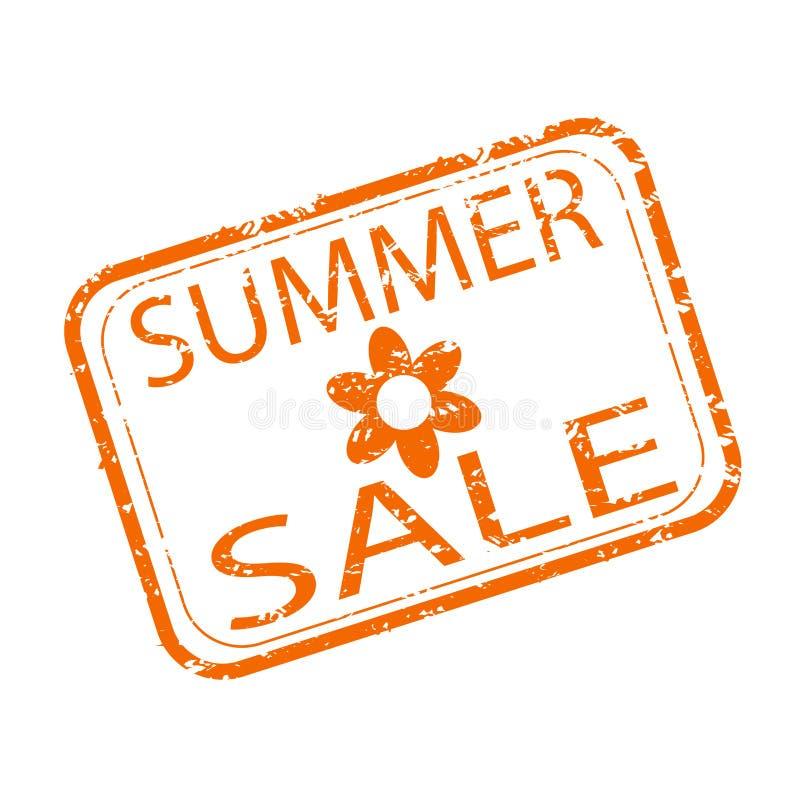 Sommerschlussverkaufstempelentwurf Kaufender Saisonrabatt stock abbildung