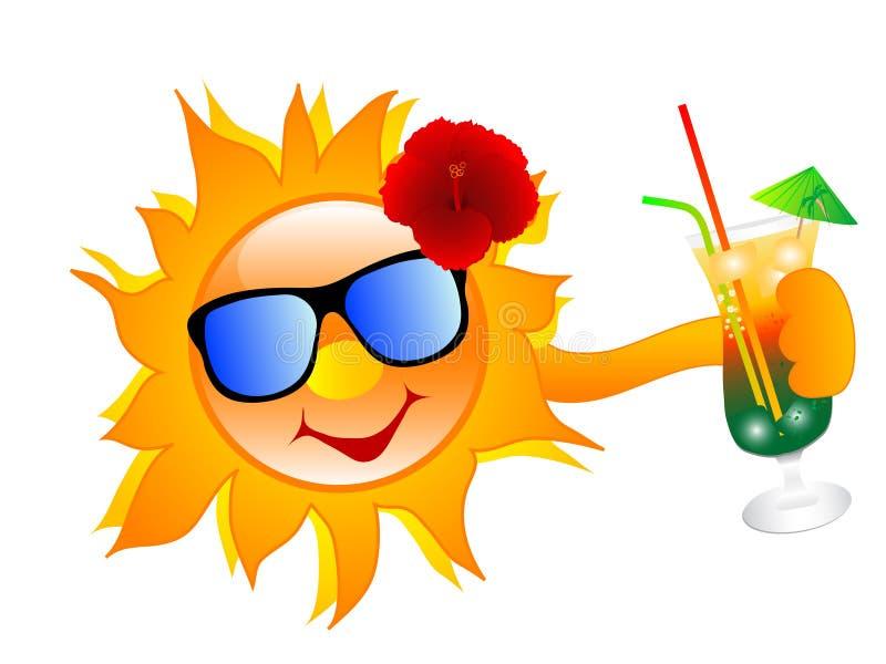 Sommersonne stock abbildung