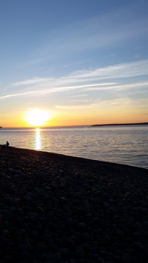 Sommersonnenuntergang in Neufundland stockfotos
