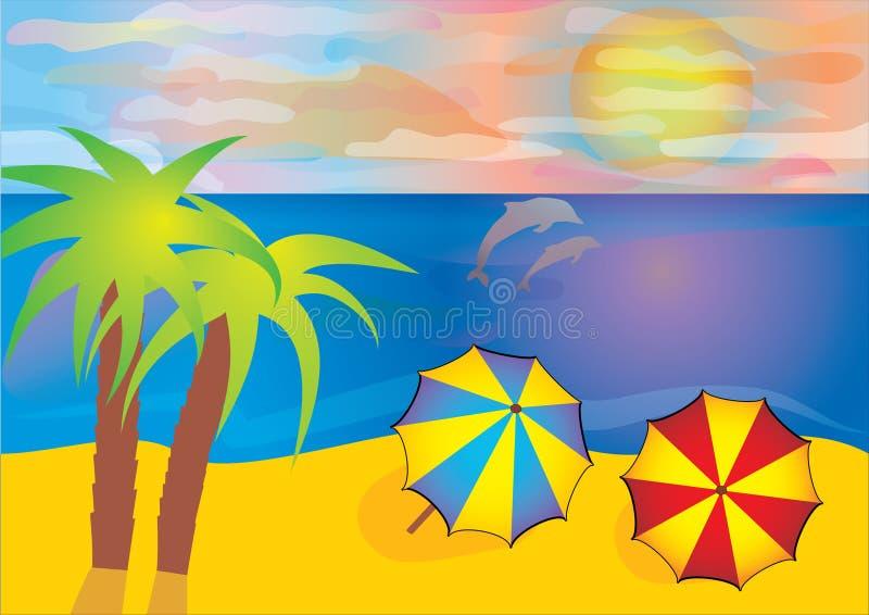 Sommerstrand stockbilder