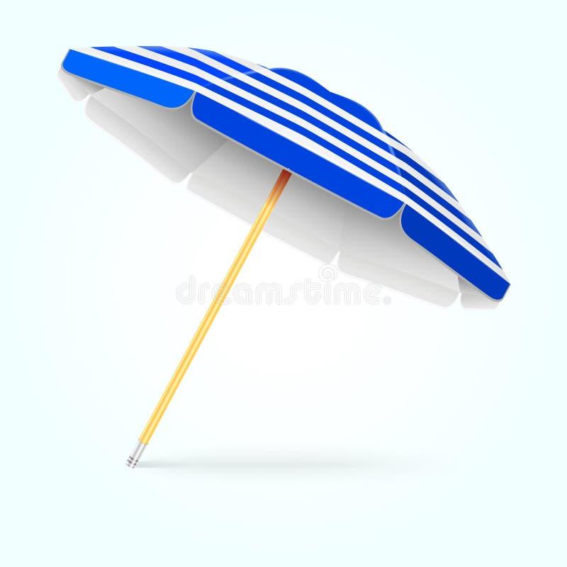 Sommerstrandschirm, Sonnenschirm Sonnenschutzvektorkonzept stock abbildung
