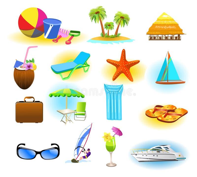 Sommersymbole stock abbildung