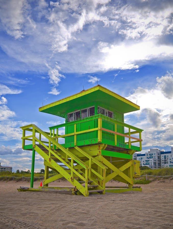 Sommerszene im Miami Beach Florida stockbilder
