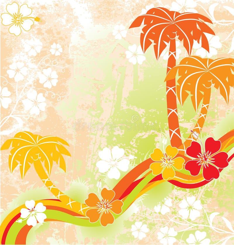 Sommerszene, Palmen, Vektor lizenzfreie abbildung