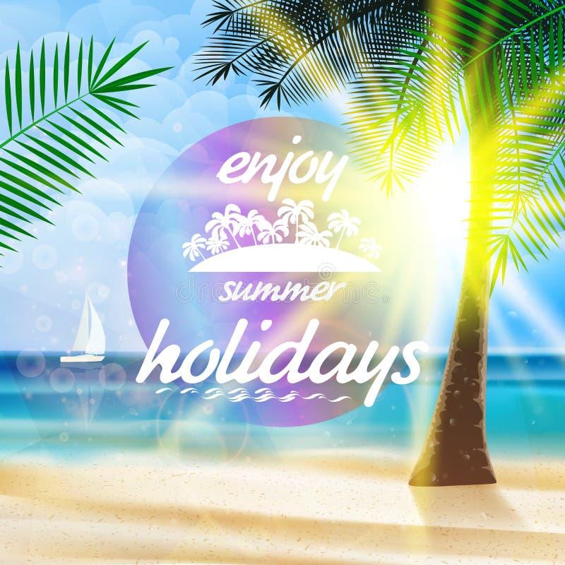 Sommertypographie-Feiertagsschablone stock abbildung