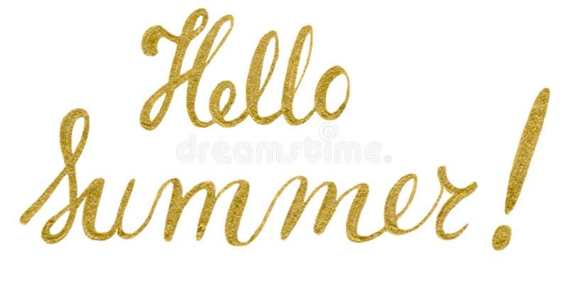 Sommertypographieplakat Handgeschriebene Phrase T-Shirt begrifflichhandmit buchstaben gekennzeichneter kalligraphischer Entwurf lizenzfreie abbildung