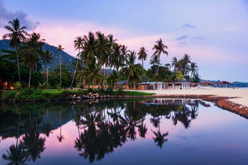 Sommerurlaubsort bei Ko Samui, Thailand stockbilder