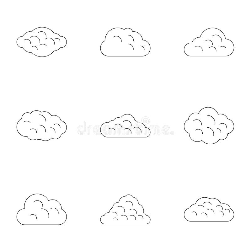 Sommerwolken-Ikonensatz, Entwurfsart stock abbildung