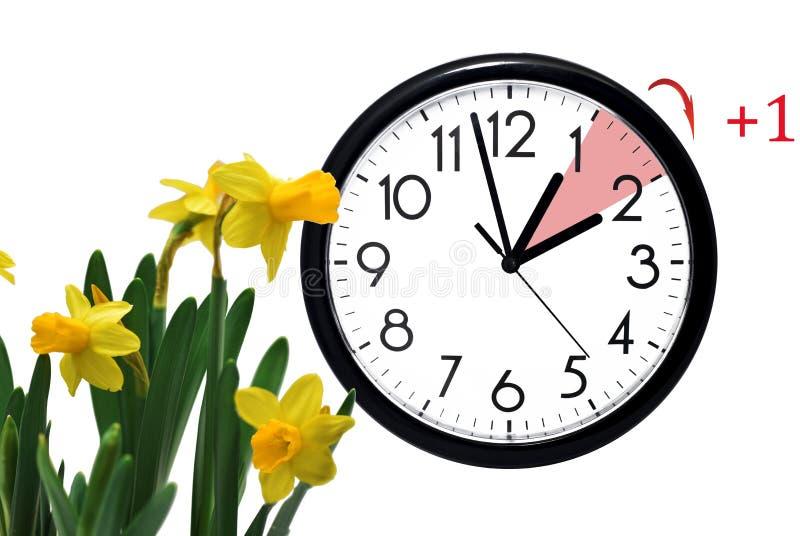 Sommerzeit Ändern Sie Uhr zur Sommerzeit lizenzfreie stockbilder