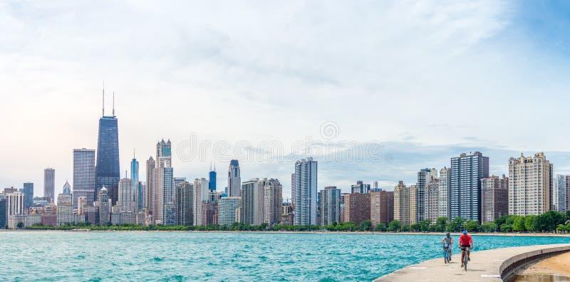 Sommerzeit in Chicago lizenzfreie stockbilder