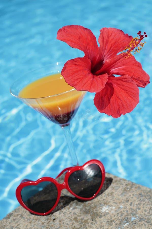 Sommerzeit-Cocktail stockfotos