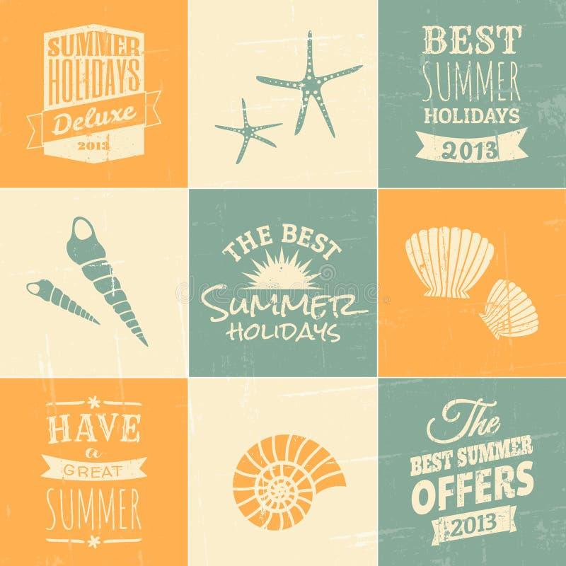 Sommerzeit-Design-Sammlung lizenzfreie abbildung