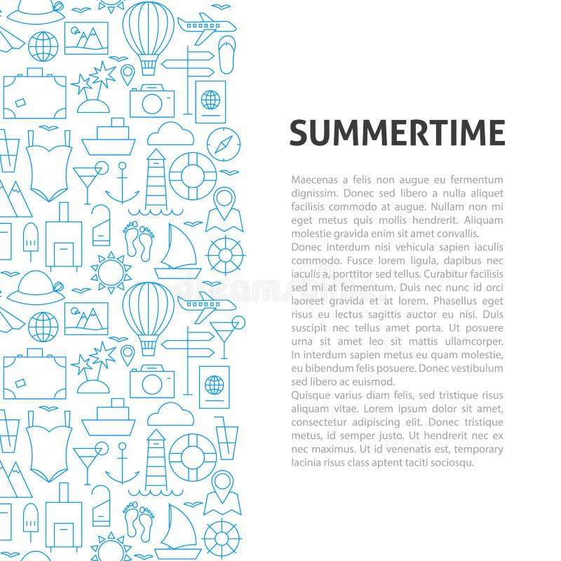 download sommerzeit linie muster konzept vektor abbildung illustration von feiertag ikone - Konzept Muster
