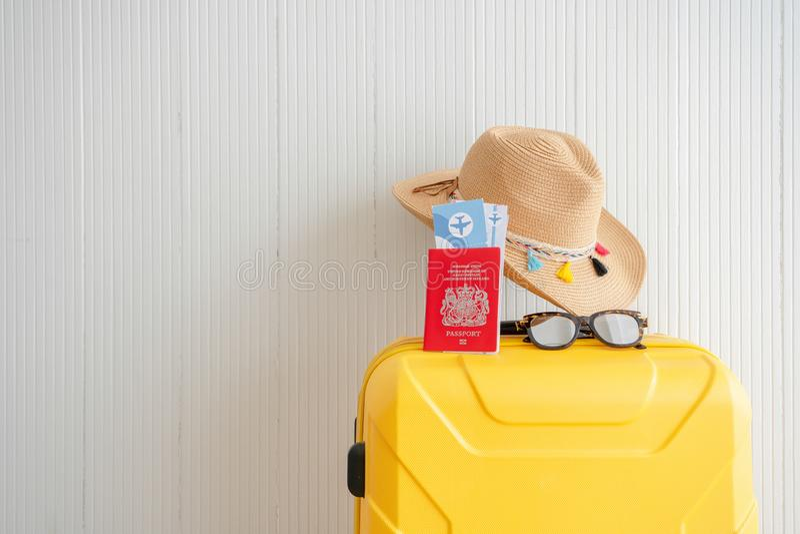 Sommerzeitkonzept Wochenenden-Reisevorbereitung stockfoto