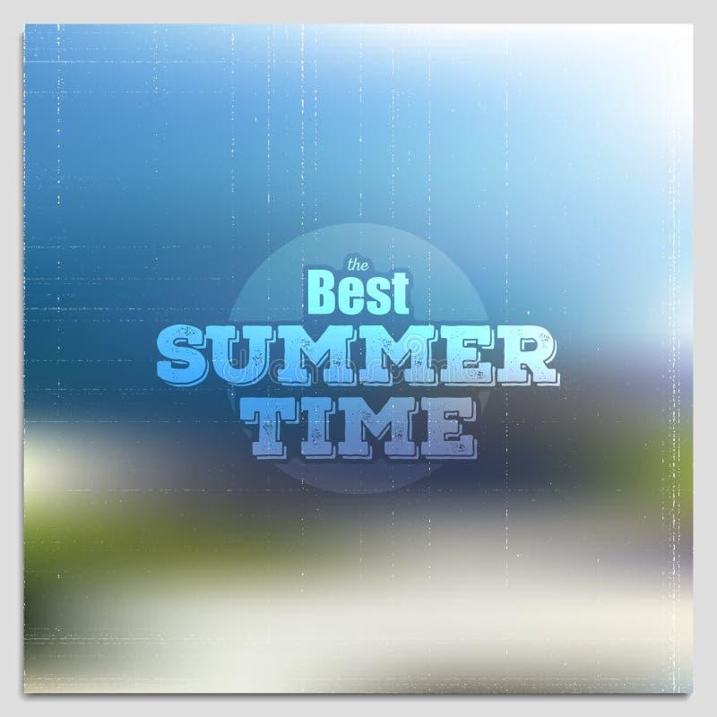 Sommerzeitplakat, Vektornetz und Mobile vektor abbildung