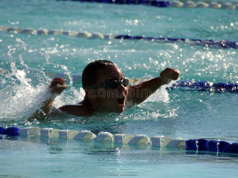 SommerzeitSwim stockfotografie