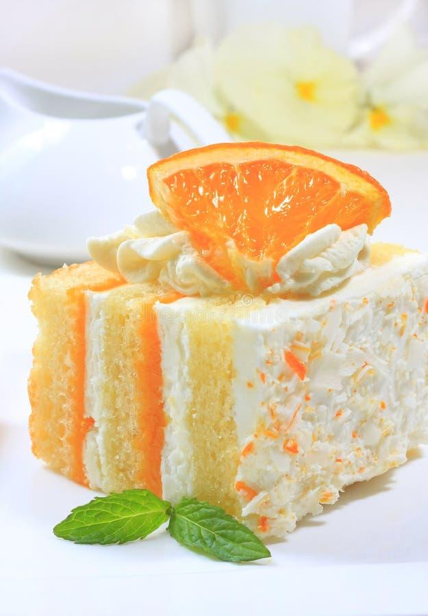 Sommerzitrusfruchtkuchen lizenzfreies stockbild