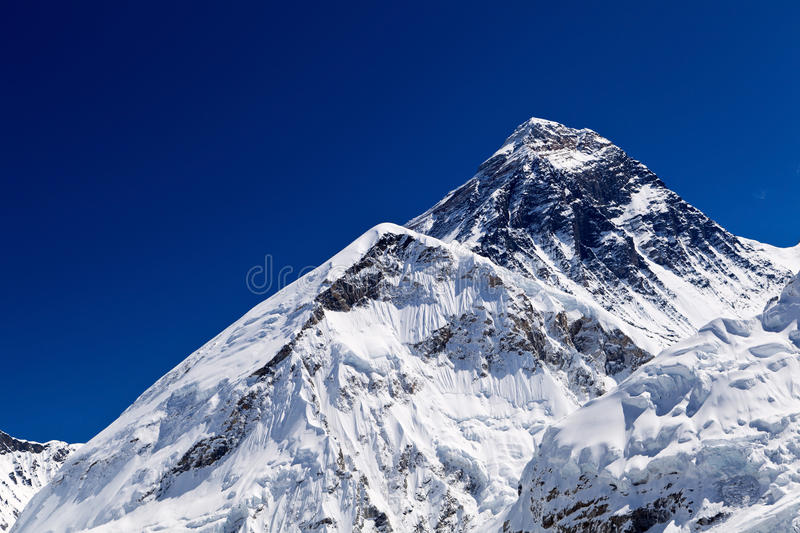 Sommet d'Everest de support photo stock