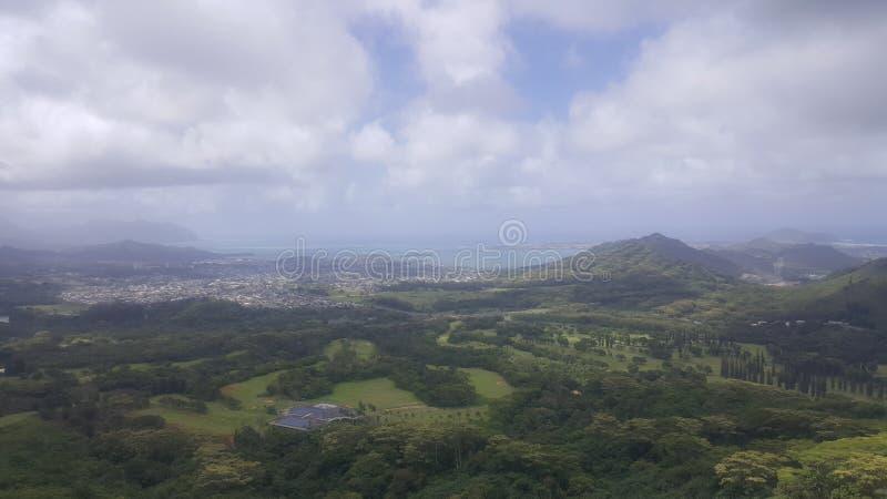 Sommet de montagne hawaïen photos stock