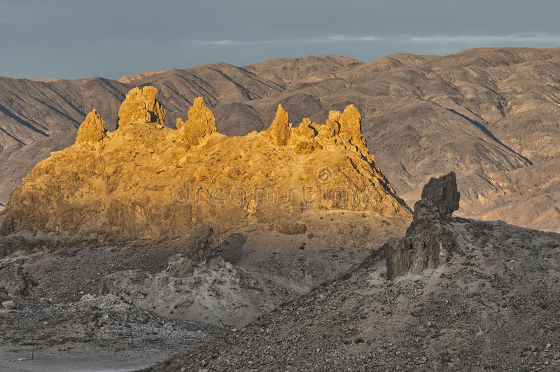 Sommets de trona, vallée de Sears photographie stock