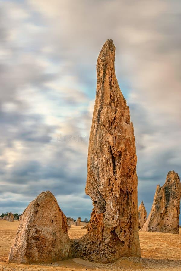 Sommets en pierre en parc national de Nambung images stock