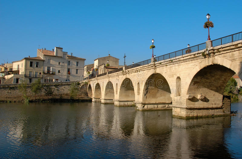 Download Sommieres bridge stock image. Image of monument, water - 25846493