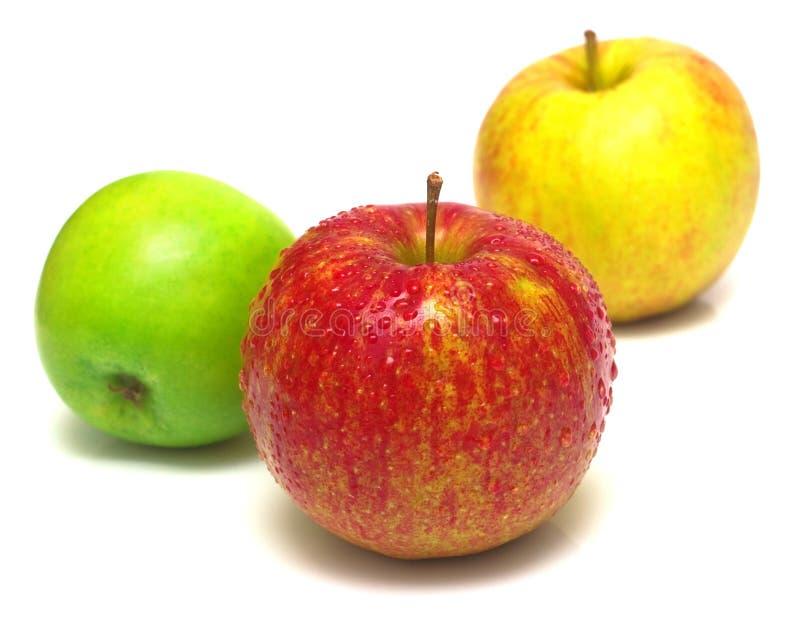Sommige appelen royalty-vrije stock afbeeldingen