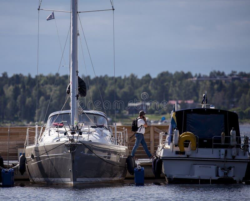 Sommige boten in de haven royalty-vrije stock fotografie