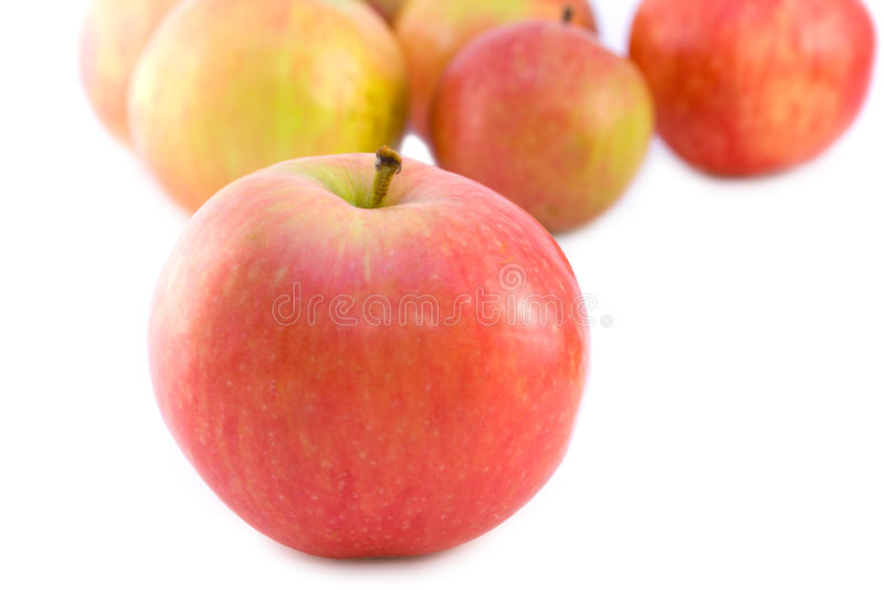 Sommige rijpe sappige appelen royalty-vrije stock foto