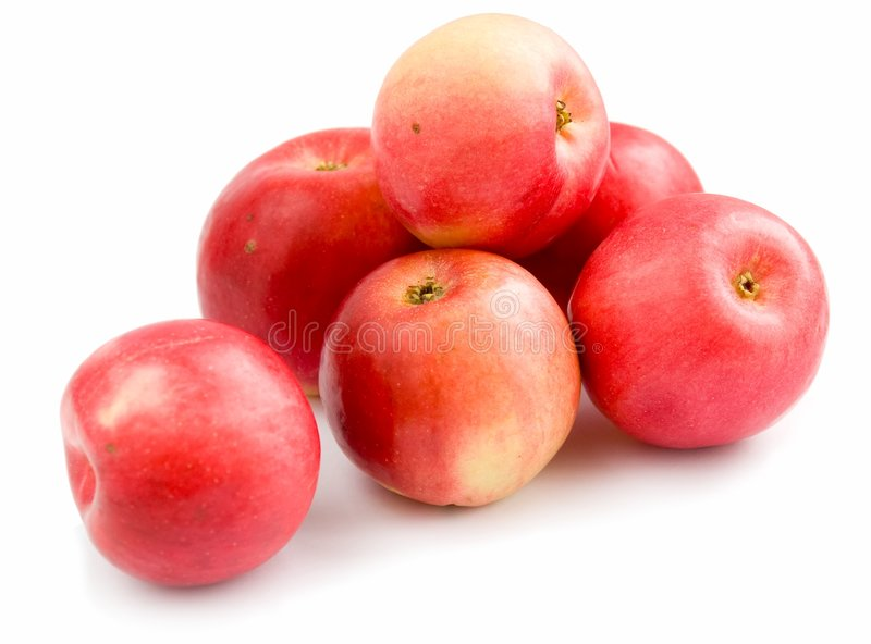 Sommige rode appelen stock afbeelding