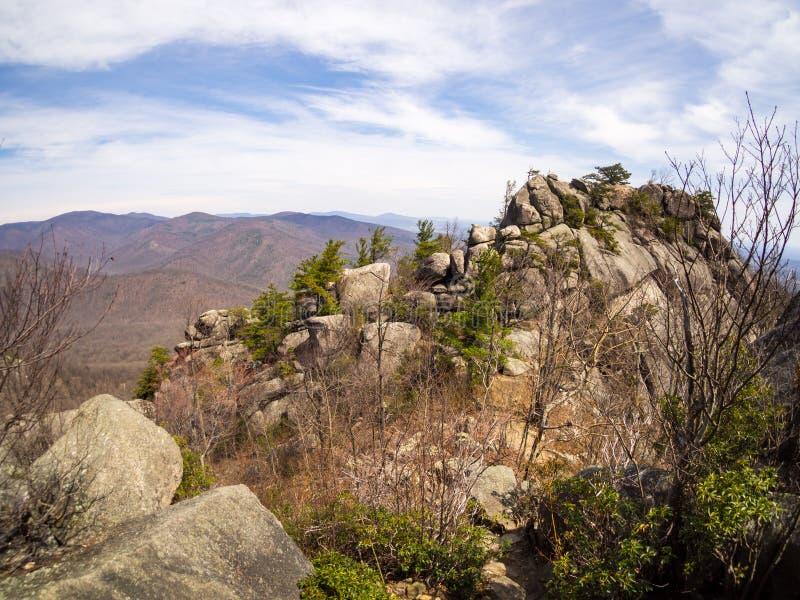 Sommità della montagna, parco nazionale di Shenandoah, vecchia montagna dello straccio immagine stock