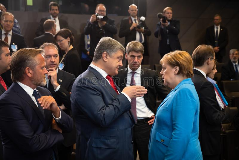Sommità di alleanza militare di NATO a Bruxelles immagine stock