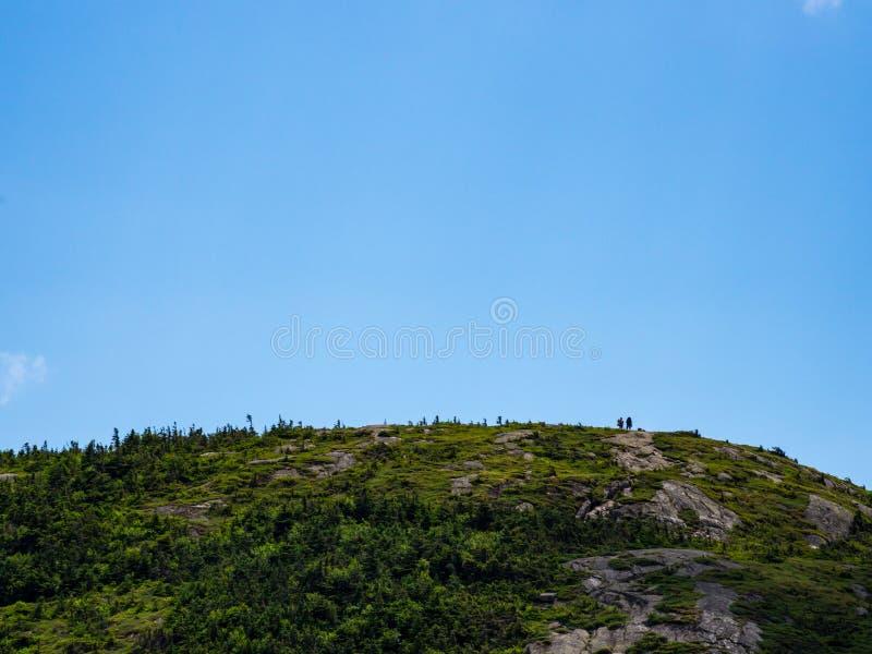 Sommità esposta della montagna, gamma di Mahoosuc, Maine fotografia stock libera da diritti