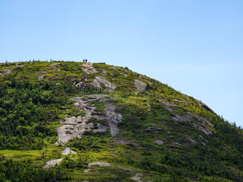 Sommità esposta della montagna, gamma di Mahoosuc, Maine fotografie stock libere da diritti