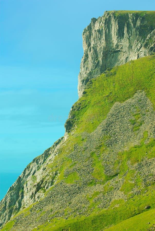 Sommità piana della montagna immagini stock libere da diritti