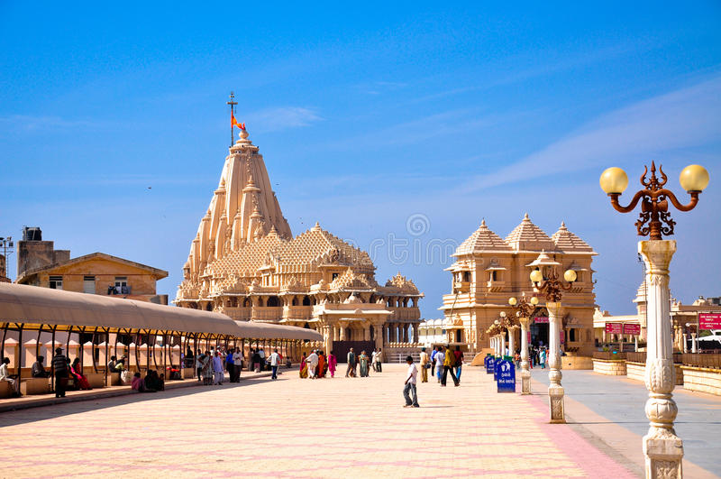 somnath dwuczłonowa świątynia zdjęcia royalty free